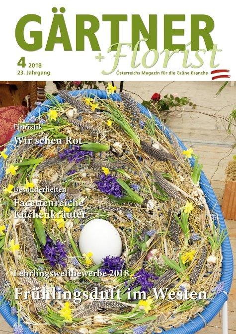 GÄRTNER+FLORIST Ausgabe 4/2018