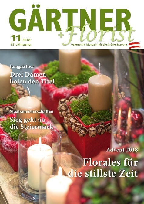 GÄRTNER+FLORIST Ausgabe 11/2018