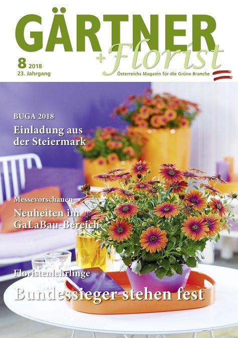 GÄRTNER+FLORIST Ausgabe 8/2018